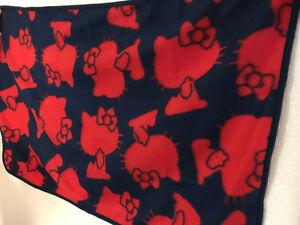 1 x Hello Kitty Fleece Throw Blanket 90x60cm Sanrio Japan / Japanese Cute Anime