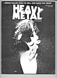 Heavy Metal November 1999 CBLDF Frank Miller Limited Edition 6.0 FN 1977 Series