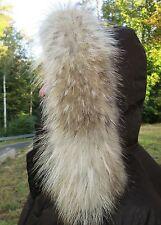 Waschbär Pelz KAPUZE Kragen XXL Pelzkragen Coyote Fell Mantel Parka Jacke Fur