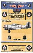Yellow Wings 16th PG Curtiss P-36A, 1939-40 Decals 1/32 021
