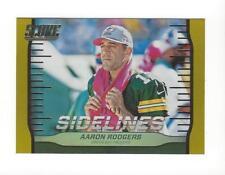 2016 Score Sidelines Jumbo Gold #5 Aaron Rodgers Packers /99