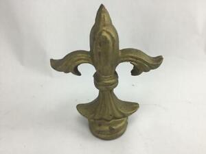 Cast Iron Fleur De Lis Finial Doorstop Paperweight Spear Gold
