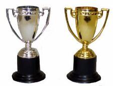 2 TROPHY CUPS Sport Reward plastic kids school olimpic football soccer boys girl