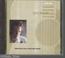"DAVID WILCOX ""COMMENT DID VYOU TROUVER ME HERE"" 1989 UN & M"