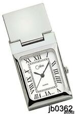 Engravable Colibri Silver White Dial Money Clip Pocket Watch