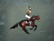 BREYER RACE HORSE CHRISTMAS ORNAMENT WITH BOX - SEATTLE SLEW  KENTUCKY DERBY NIB