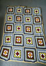 Hand made Crocheted Knit  Afghan Throw Lap Blanket
