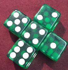 5 Green 19mm Premium Dice