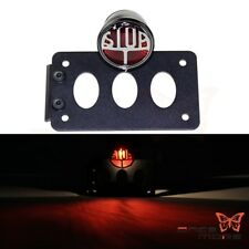 Side Mount Number License Plate Bracket Stop Brake Tail Light For Harley Black