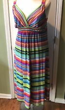 New Directions Stripe Maxi Dress Size 1X