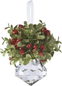 "Ganz Kissing Krystals KK10 5"" Mini Mistletoe Crystal Ornaments with Hanger"