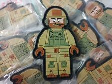 TACTICAL LEGO OPERATOR PVC 2D PATCH - COYOTE COLOR