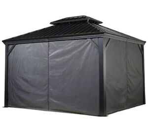 SOJAG 12'X20' Messina Sun Shelter Curtains for Dark Gray (Gazebo not included)