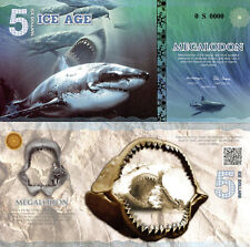 ICE AGE 5 Ice Dollars Fun-Fantasy Note 2015 Issue Banknote with Megalodon Shark