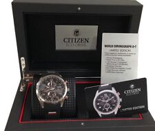 NEW CITIZEN MEN'S LIMITED EDITION ONLY 2500 MADE WORLD CHRONOGRAPH AT8030-00E