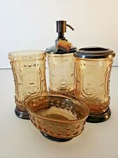 Handcrafted Bath Accessories Collection Bathroom Accessory Set Home Decor New