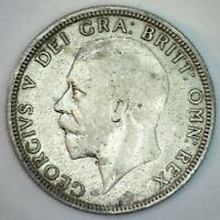 1928 Great Britain Silver Florin Coin YG You Grade Silver UK Coin George V