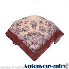Russian, Authentic, Original, Pavlovo Posad Shawl, Scarf 100% Cotton