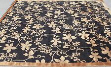 R278852 Gorgeous Black N Gold Wool & Silk Hand Crafted Tibetan Rug 8X10 MI Nepal