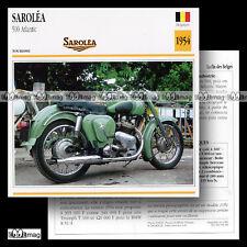 #009.09 SAROLEA 500 ATLANTIC 50's Fiche Moto Classic Bike Motorcycle Card