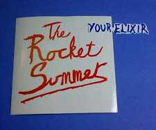 THE ROCKET SUMMER WHITE RED WRITING ISLAND Car Amp Music RARE CASE Sticker