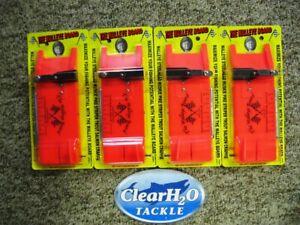 4PK CHURCH TACKLE WALLEYE BOARD PLANER BOARDS (2)LEFT & (2)RIGHT WALLEYE STRIPER