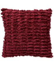 "Lucky Brand Shaggy 18"" Square Decorative Cotton Pillow, Red"