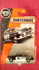 Matchbox (US Card) - 2017 - #57 '51 Hudson Hornet Sheriff Car - Black & White