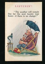 Comic early Radio Weather Forecast 1909 PPC