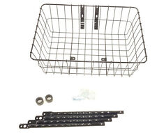 Wald 1392 Bicycle Front Basket, Gloss Black, Large