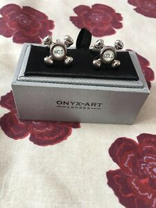 Hot & Cold Taps Cufflinks by Onyx-Art New in Gift Box