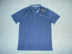UNDER ARMOUR NEW! W/TAGS MENS 3XL TALL BLUE POLO SHIRT                        Z2