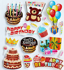 Paper Cellar Birthday, Chipboard, Self Adhesive Embelishment Toppers, STK/11/004