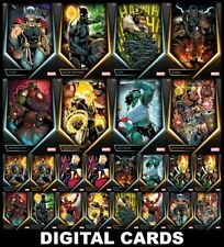 Topps Marvel Collect AVENGERS FINAL HOST [24 CARD GOLD/SILVER SET]