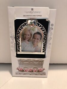 Harvey Lewis Cake Topper W/Swaroski Elements 25th Anniversary Photo frame