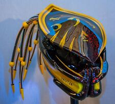 predator motorcycle helmet fiber optic dreadlocks bumblebee