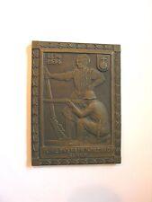 Antique Bronze Plaque ~ SCHIESSVEREIN WIEDIKON ZURICH 1874-1934 ~ by Huguenin