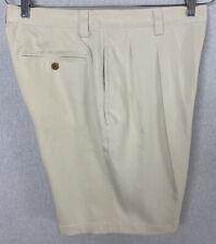 Tommy Bahama Men's Silk Beige Shorts Pleated Bermuda Short Size 34 NWT $85 NEW