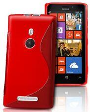 pour votre Nokia Lumia 925, ce bel étui&coque souple de qualité silicone, Rouge