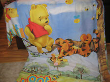 WINNIE THE POOH SINGLE DOONA COVER WITH PILLOW CASE-DOUBLE SIDED-USED