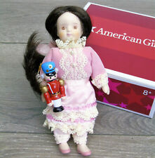 American Girl SAMANTHA'S Christmas DOLL CLARA & Wooden Nutcracker Toy AG BOX!