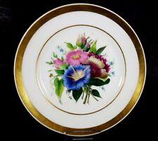 Porzellan Teller Blumen Schlesien um 1850 - 1880 AL417