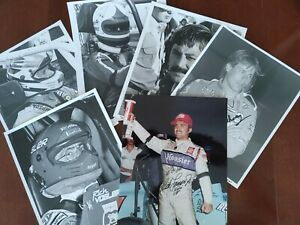 SIGNED & UNSIGNED Collection (8) of the Faces of USAC Midget Car Racing Photos