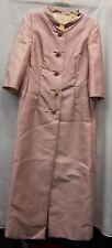 Saks Fifth Avenue Womens VINTAGE 1960 Long Dress Coat Pink Formal Excellent Used