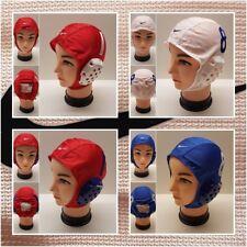 Nike Wasserball Kappe Wasserpolo Kappe Cap mit Ohrenschutz weiß blau Nummer