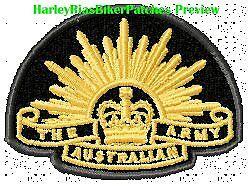 AUSTRALIAN ANZAC CURRENT RISING SUN  - EMBROIDERED BIKER PATCH