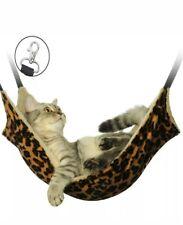 Pet Cat Hammock LARGE Leopard Fur Bed Animal Hanging Dog Cage Comforter Ferret