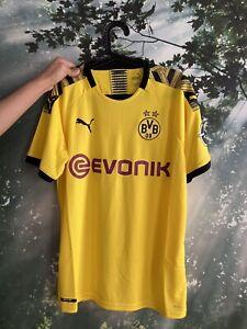 2019/20 PUMA DRYCELL Borussia Dortmund BVB Home Jersey Mens Yellow Black