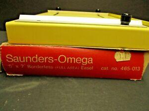 Saunders Omega 5X7 adjustable borderless easel cat #465-013