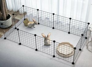 10Pcs Foldable Pet Playpen Iron Kennel House For DOG CAT RABBIT MOUSE PIG Cage